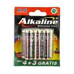 ABC Baterai Alkaline Millennium Power 1.5 Volt AA Ukuran LR6