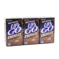 Sanitarium High Protein Up & Go Energize Chocolate Flavour Drink (3 Packs)
