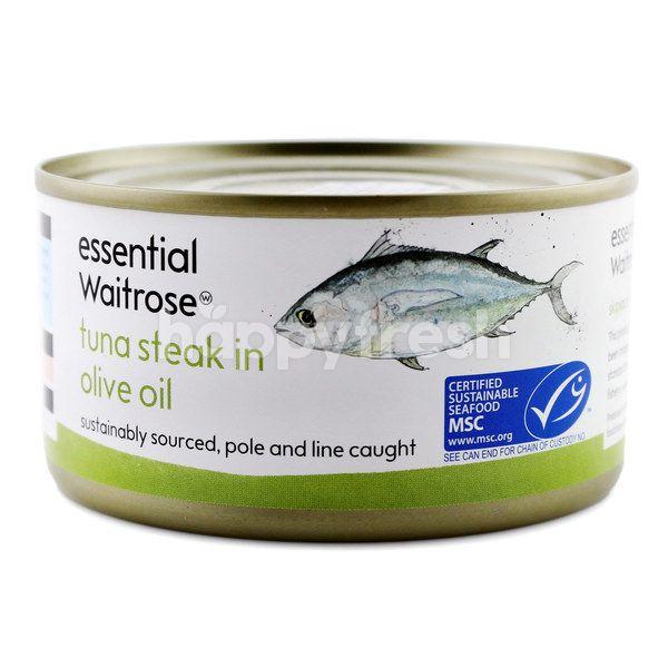 Essential Waitrose Tuna Steak In Olive Oil