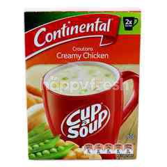 Continental Cup A Soup Croutons Creamy Chicken