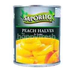 Saporito Peach Halves in Syrup