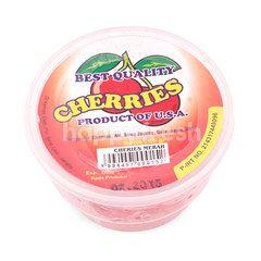 Stems Red Cherries