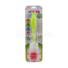 OKBB 2 In 1 Bottle & Nipple Brush With Sponge Tip