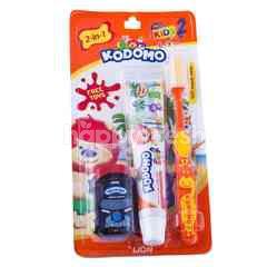 Kodomo 2-in-1 Pro Kids 2 Free Toys Toothbrush Toothpaste