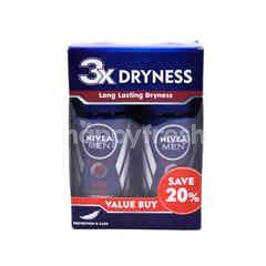 Nivea Men Dry Impact Roll On Deodorant (2 Bottles)