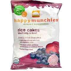 Happybaby Happy Munchies - Blueberry & Beet Rice Cakes (40g)