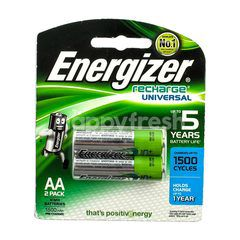 Energizer Recharge Universal Batteries 1.2v AAHR6