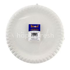 """Stepoint 9"""" White Paper Plate"""
