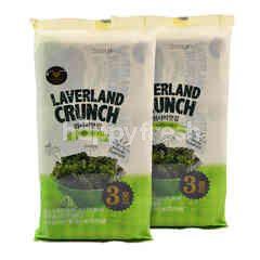 Manjun Laverland Wasabi Flavoured Korean Seaweed (3 Pieces) Twinpack