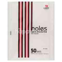 Umono 11 Holes Sheet Protector File (50 Sheets)