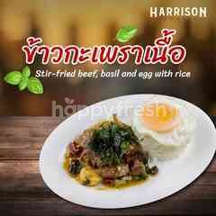 Harrison Butcher Stir-fried Beef, Basil And Egg With Rice