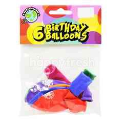 Party Planet Birthday Balloons (6 Pieces)