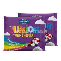 Emborg Junior With Mild Cheddar Cheese Sliced 20g Twinpack