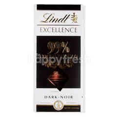 Lindt Excellence 99% Cocoa Dark Chocolate
