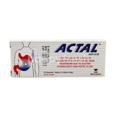 Actal Stomach Pain Chewable Tablets