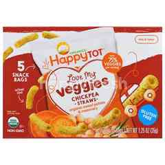 Happybaby Love My Veggies Chickpea Straws Organic Sweet Potato And Rosemary (5X7g)