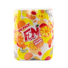 F&N Fun Pack Outrageous Orange Sparkling Flavoured Drink (4 Cans)