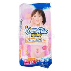 MamyPoko Extra Soft Baby Girl Diaper Pants Size XL