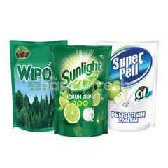Unilever Sunlight, Super Pell, Wipol Ultimate Household Cleaning Kit 4
