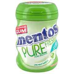Mentos Pure Fresh Chewing Gum Lime Mint With Green Tea Flavour