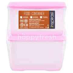 Inspirasi 200ml Purple Colour Food Container (2 Pieces)