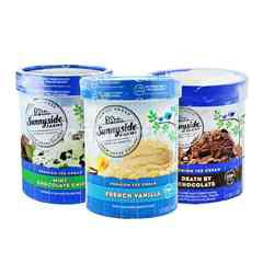 Sunnyside Farms Premium French Vanilla, Mint Chocolate Chip and Chocolate Ice Cream