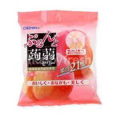 Orihiro Konnyaku Peach Jelly (20g X 6 Pieces)