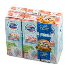 Foremost UHT Non Fat Milk Plain Flavour With High Calcium Pack 225 ml X 6 Pcs