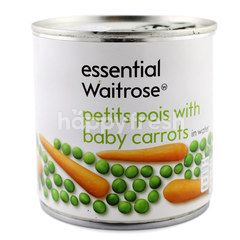 Essential Waitrose Petits Pois With Baby Carrots