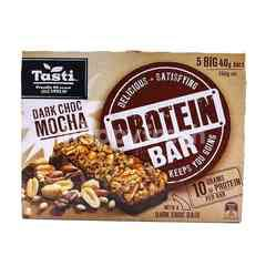 Tasti Dark Chocolate Mocha Protein Bar (5 Big Packs)