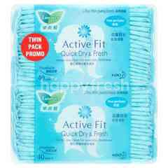 Laurier Active Fit Ultra Thin Pantiliners Twin Pack Non-Perfume (2 Pieces)