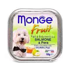 MONGE Pate & Chunkies With Salmon & Pear Dog Food