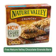 Nature Valley Crunchy Granola Bars Maple Brown Sugar Flavour (12 Pieces)
