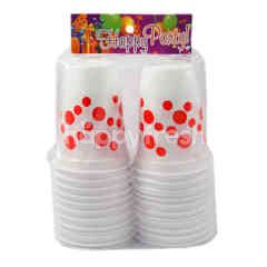Happy Party Red Polkadot Plastic Cup