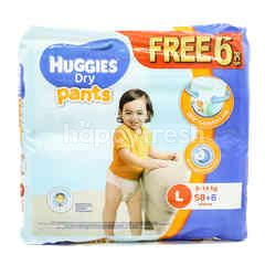 HUGGIES Dry Pants - Large - 58+6 Pieces