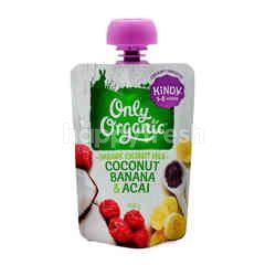 Only Organic Cocnut, Banana & Acai Puree