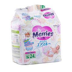 Merries   Baby Diapers with Tape Size S (24 pieces)