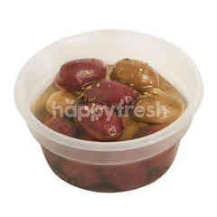 Marinated Kalamata Olives In Olive Oil, Garlic & Herbs