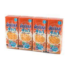 ดัชมิลล์ 4 อิน 1 นมเปรี้ยวยูเอชที รสส้ม