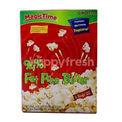 Magic Time 94% Fat Free Butter Premium Microwave Popcorn (3 Bags)