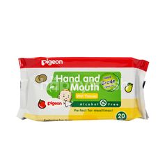 Pigeon Hand and Mouth Wipes Alcohol Free