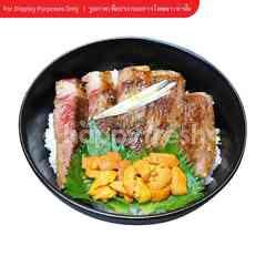 Steak Rice Bowl with Sea Urchin
