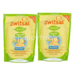 Zwitsal Natural Baby Bath 2-in-1 Hair & Body Pouch  Twin-pack