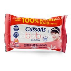 Cussons Baby Wipes and Smooth with Almond Oil