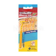 Gillette Bonus Pack Nacet Ii Long Handle Razors For Men