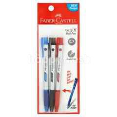 Faber Castell Grip X 0.7 Ball Pen (3 Pieces)