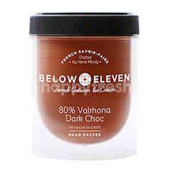 บีโลว อีเลฟเว่น ไอศกรีมกระปุก รสวาลโรห์นา ดาร์กช็อกโกแลต 80% 380 มล.