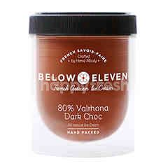 Below Eleven Ice Cream Pint 80% Valrhona Dark Choc Flavour 380 ml