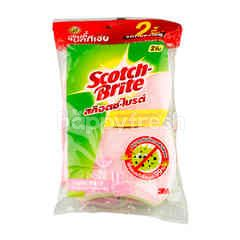 Scotch Brite Scourer Pad With Sponge Anti-bacterial formula
