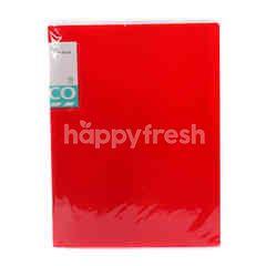 Tesco A4 Clear Book (Red)